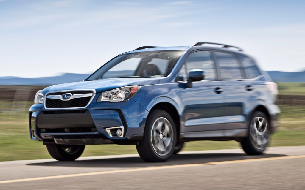 2014-Subaru-Forester-XT-front-view-in-motion